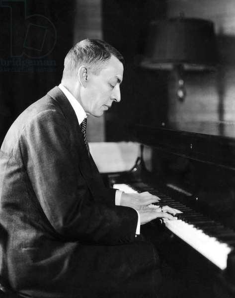 Russian composer and pianist Sergei Rachmaninoff, (1873-1943), c. 1931.