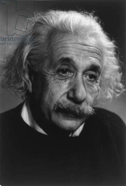 Albert Einstein (1879-1955), German-American theoretical physicist. c. 1940