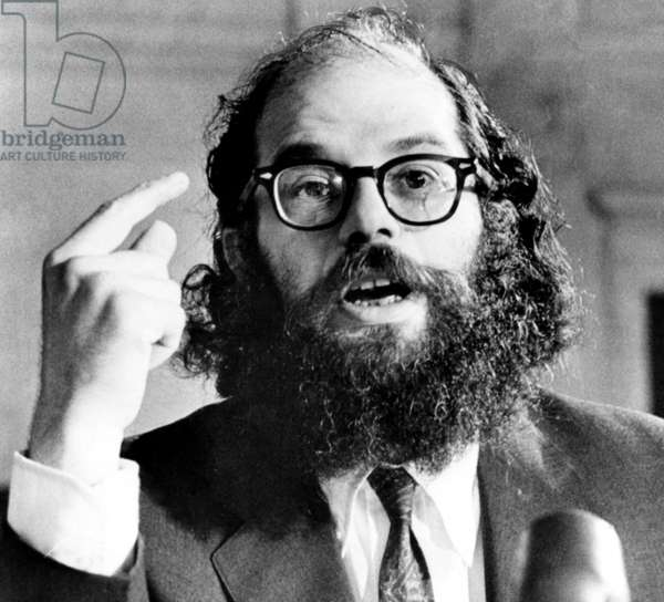 Beat Poet Allen Ginsberg, testifies before a Senate Juvenile Delinquency subcomittee, June 14, 1966