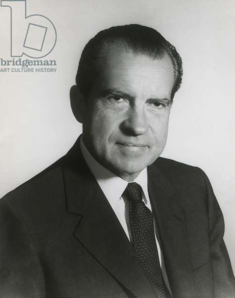 President Richard Nixon in his first term official portrait, 1969
