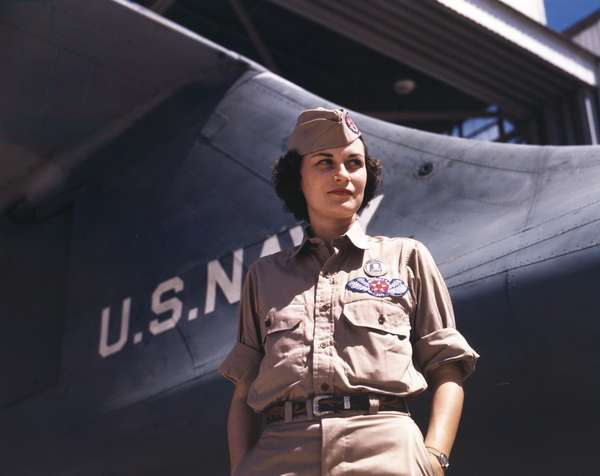 Eloise Ellis was a civil service employee at the Naval Air Base, Corpus Christi, Texas. She was Senior Supervisor in the Assembly and Repairs Department, Aug. 1942. World War 2