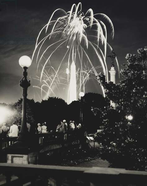 Fireworks over the Washington Monument, 1934