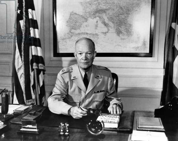 General Dwight D. Eisenhower, Hotel Asoria, Paris. July 14 1951