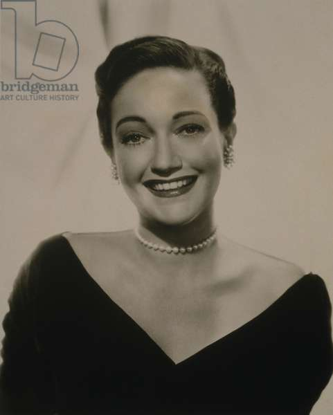 Dorothy Lamour (1914-1996) in a 1960 publicity portrait. When her movie career ended in the 1950s, she continued working as nightclub singer and stage actress