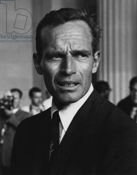 Actor Charlton Heston at the 1963 Civil Rights March on Washington. Aug. 28, 1963