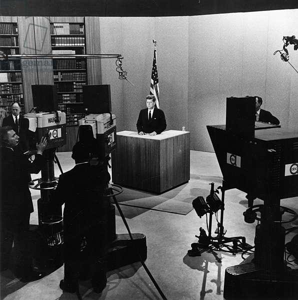 John F. Kennedy at the Kennedy-Nixon debates, Sept-Oct 1960