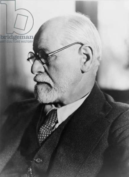 Sigmund Freud (1856-1939), in the 1930's