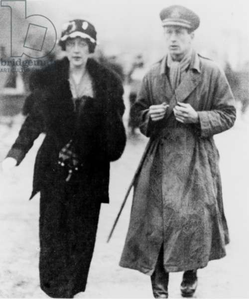 Agatha Christie (1890-1976), British mystery writer, and her first husband, Col. Archibald Christie, in 1919