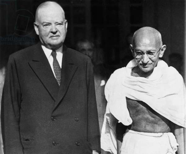 Former President Herbert Hoover, Mahatma Gandhi, c.1944