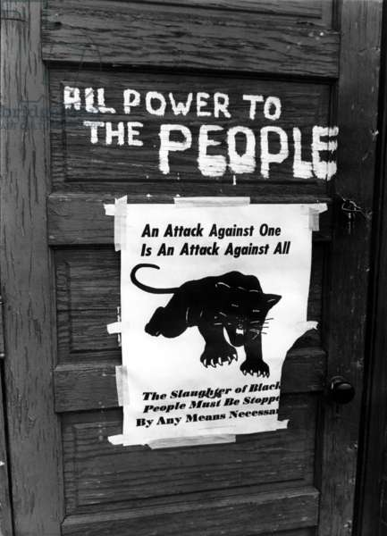 Black Panther sign, 1970