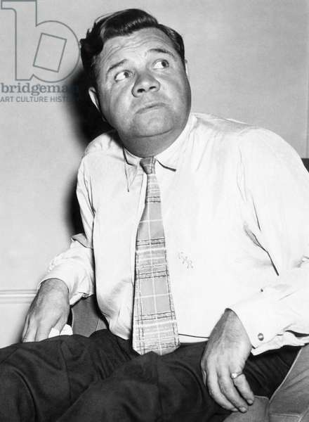 New York Yankees. Retired outfielder Babe Ruth, c.mid 1930s