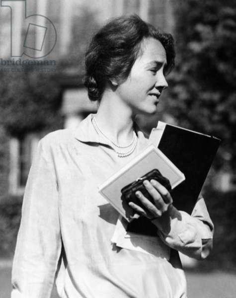 Anne Morrow Lindbergh, wife of American pilot Charles Lindbergh, c. 1929.