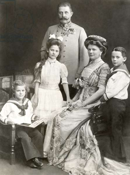 ARCHDUKE FRANZ FERDINAND, and family, 1911