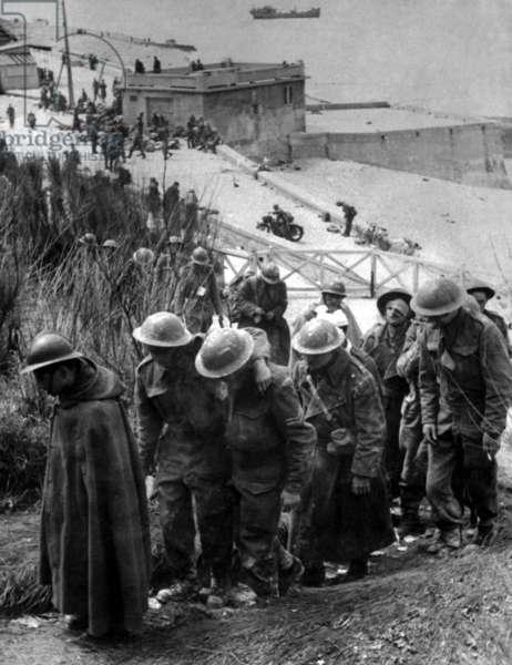 British prisoners at Dunkirk, France, June 1940.