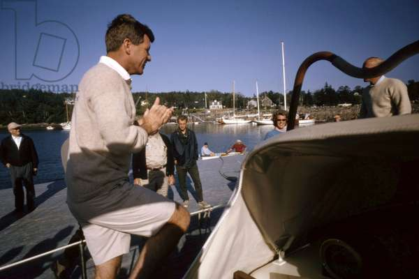 Robert Kennedy and family at Hyannis Port, September 1964