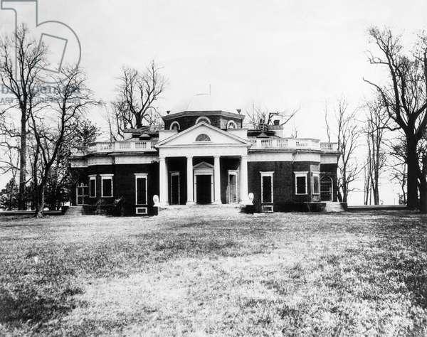 Monticello, the home of President Thomas Jefferson, Charlottesville, Virginia, c.1936