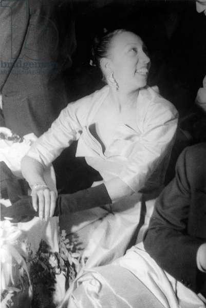 Josephine Baker (1906-1975), at a social gathering in 1951. Photo by Carl Van Vechten
