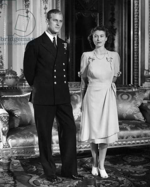 Princess Elizabeth (Future Queen of the United Kingdom), and her fiance, Philip Mountbatten, 1947