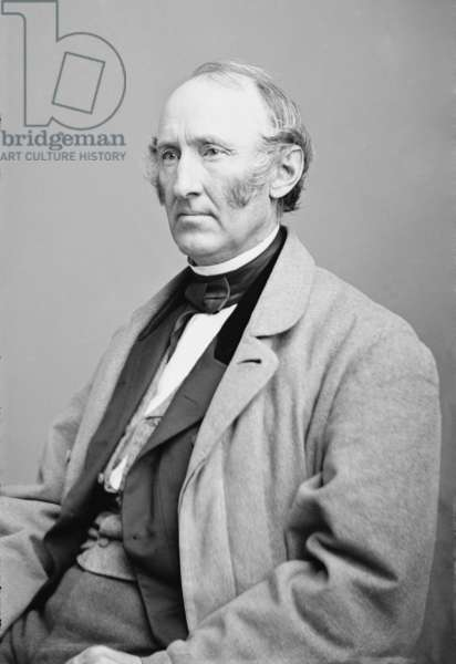 Wendell Phillips (1822-1884), American Abolitionist, was impatient with the slowness of Lincoln's emancipation policy. After the Emancipation proclamation took effect in 1863, he redirected his anti-slavery activism to achieving full civil rights for African American freedmen. Portrait by Mathew Brady studio c. 1860