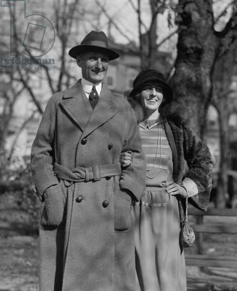 William McAdoo (1863-1941), with his wife, the former Eleanor Wilson, daughter of President Woodrow Wilson, c.1920s