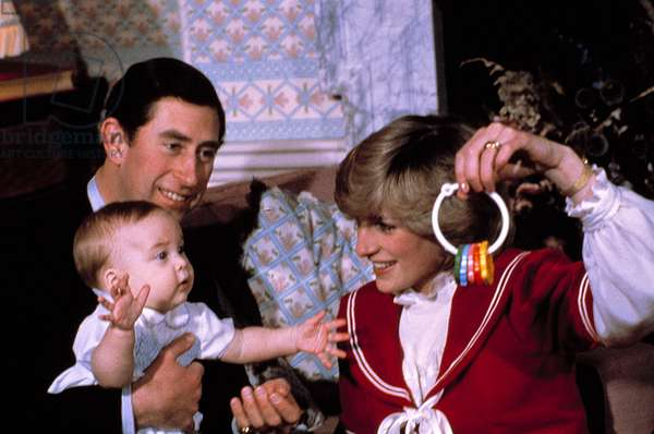 Prince Charles, Prince William, Princess Diana, c. 1983