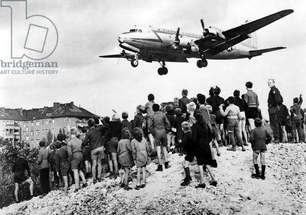 Berlin airlift of 1948-49 broke through Soviet blockade w/ supplies for 2 million Germans.