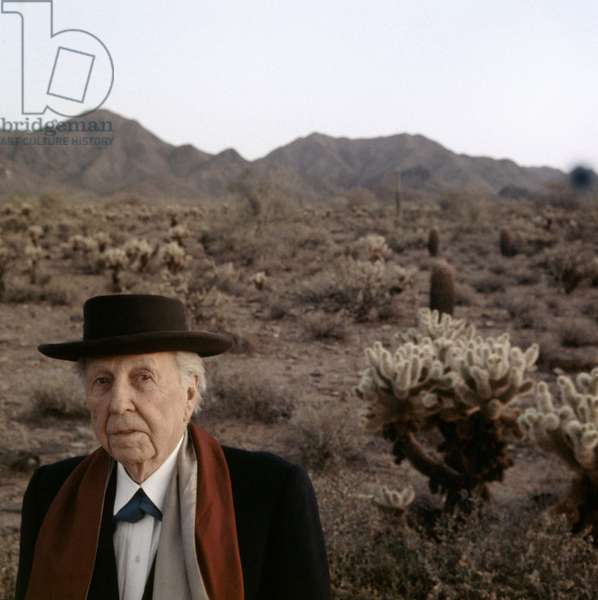 Architect Frank Lloyd Wright, c.1950s, photo by Robert Phillips/Everett Collection