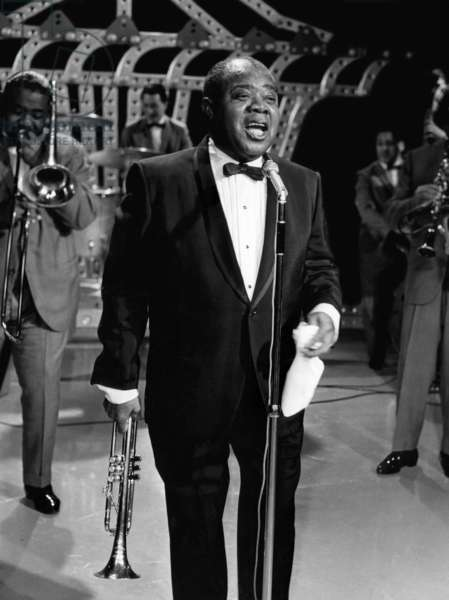 Louis Armstrong performing, 1965