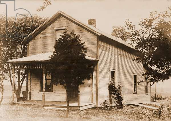 Warren G. Harding (1865-1923), birthplace in Corsica (now Blooming Grove), Ohio, USA