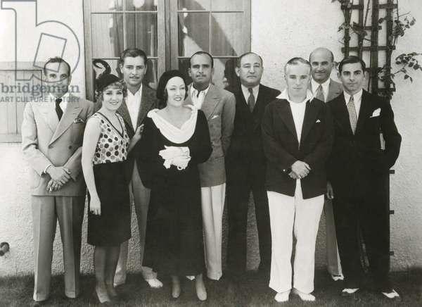 Movie stars and executives of United Artist Corporation. c. Nov. 10, 1930