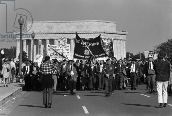 The March on the Pentagon. Pittsburgh Veterans for Peace at the March on the Pentagon. Oct. 21,1967
