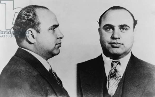 Al Capone (1899-1847), Prohibition era gangster boss in 1931 mug shot