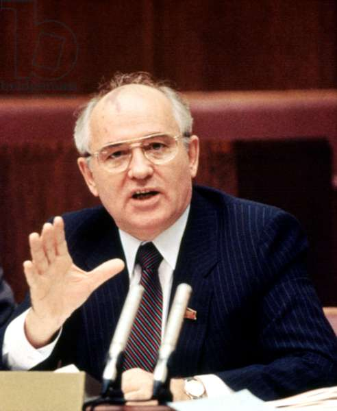 MIKHAIL GORBACHEV during his presidency of the USSR