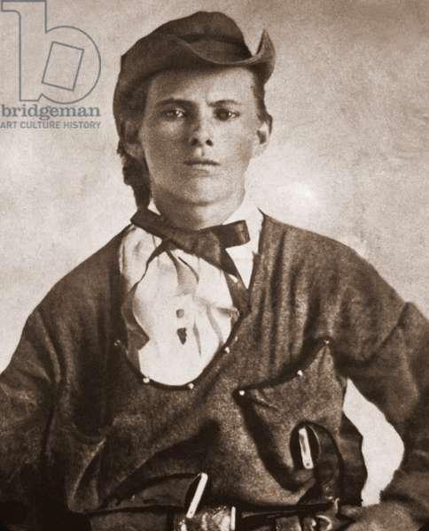 Jesse James (1847-1882). Portrait c. 1870s