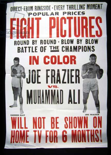 Joe Frazier vs. Muhammad Ali title fight, 1971 (poster)