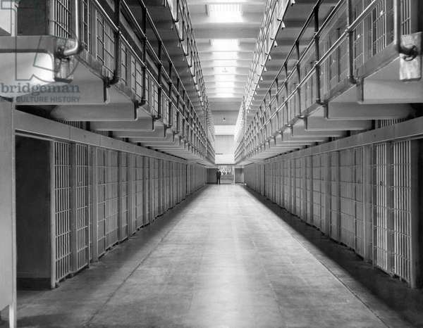 An Alcatraz cell block, San Francisco, August 20, 1934