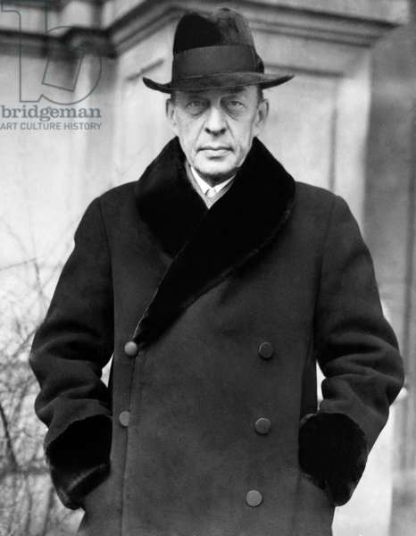 Russian composer and pianist Sergei Rachmaninoff, (1873-1943), c. 1932.