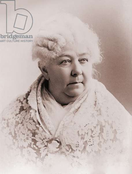 Elizabeth Cady Stanton (1815-1902), important leader of the 19th century women's rights movement in the United States. Portrait c. 1890
