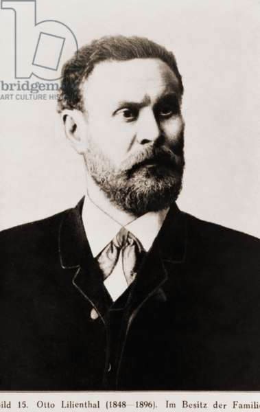 Otto Lilienthal (1848-1896), German 19th century aviation pioneer was the first person to make repeated successful gliding flights