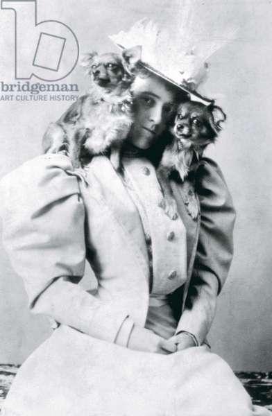 Edith Wharton, (1862-1937), American Novelist, c. 1890.