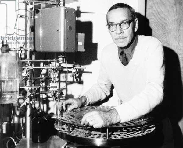 Dr. Alfred D. Hershey, 60, awarded 1969 Nobel Prize for Medicine. Oct. 16, 1969. Dr. Hershey and his colleagues focused on the molecular level, working with bacteriophages they could not see