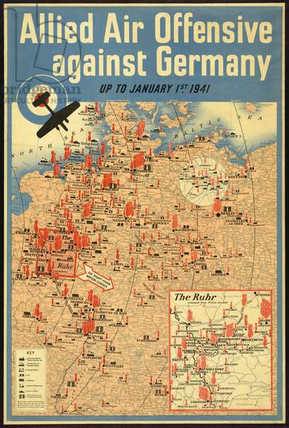 Allied Air Offensive against Germany, Up to January 1st 1941, 1941 (poster)