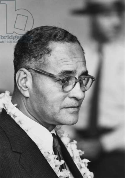 Diplomat Dr. Ralph Bunche at the 1963 Civil Rights March on Washington. Aug. 28, 1963