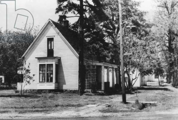Birthplace of Harry Truman in Lamar, Missouri. Truman's grandfather planted a pine tree was in the yard on the morning Harry was born on May 8, 1884.