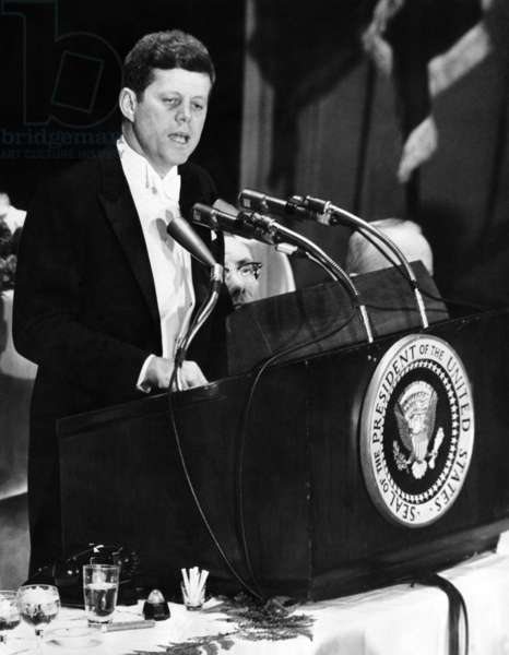 President John Kennedy urges 'self censorship' of news. Days after the failed Bay of Pigs invasion of Cuba, he spoke to the American Newspaper and Publishers Association. He disclosed that costly revisions were required in satellite tracking systems because of technical information published by US newspapers. April 27, 1961