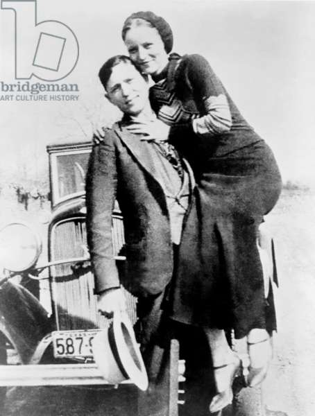 Bonnie and Clyde during their 21 month crime spree of robbery and police murders, in Texas, Oklahoma, New Mexico, and Missouri. They were killed trying to escape capture on May 23, 1934 in Louisiana