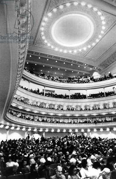 CARNEGIE HALL, interior of the concert hall, NYC