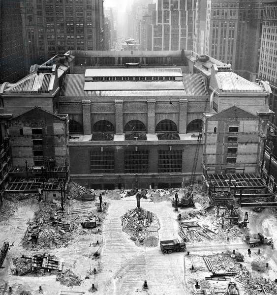Grand Central Station: Rear view of Grand Central Station, January 23, 1961