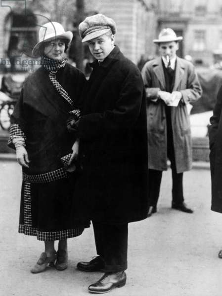 Isadora Duncan and husband Sergei Yesenin, Berlin, 1922