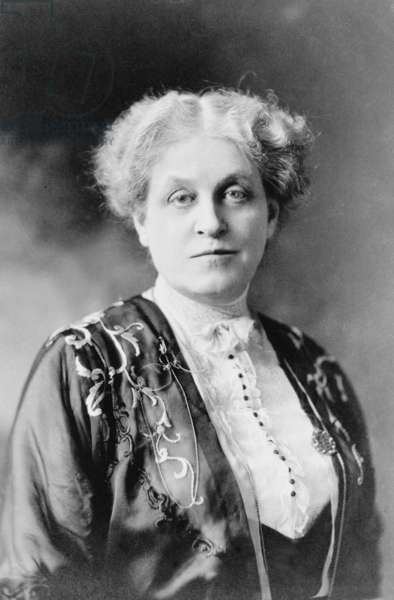 Carrie Chapman Catt (1854-1947) was a key leader of the U.S. Women's suffrage movement. After passage of the 19th amendment, she organized the League of Women Voters. Photo c. 1917